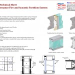 High Wall Partition Technical Sheet