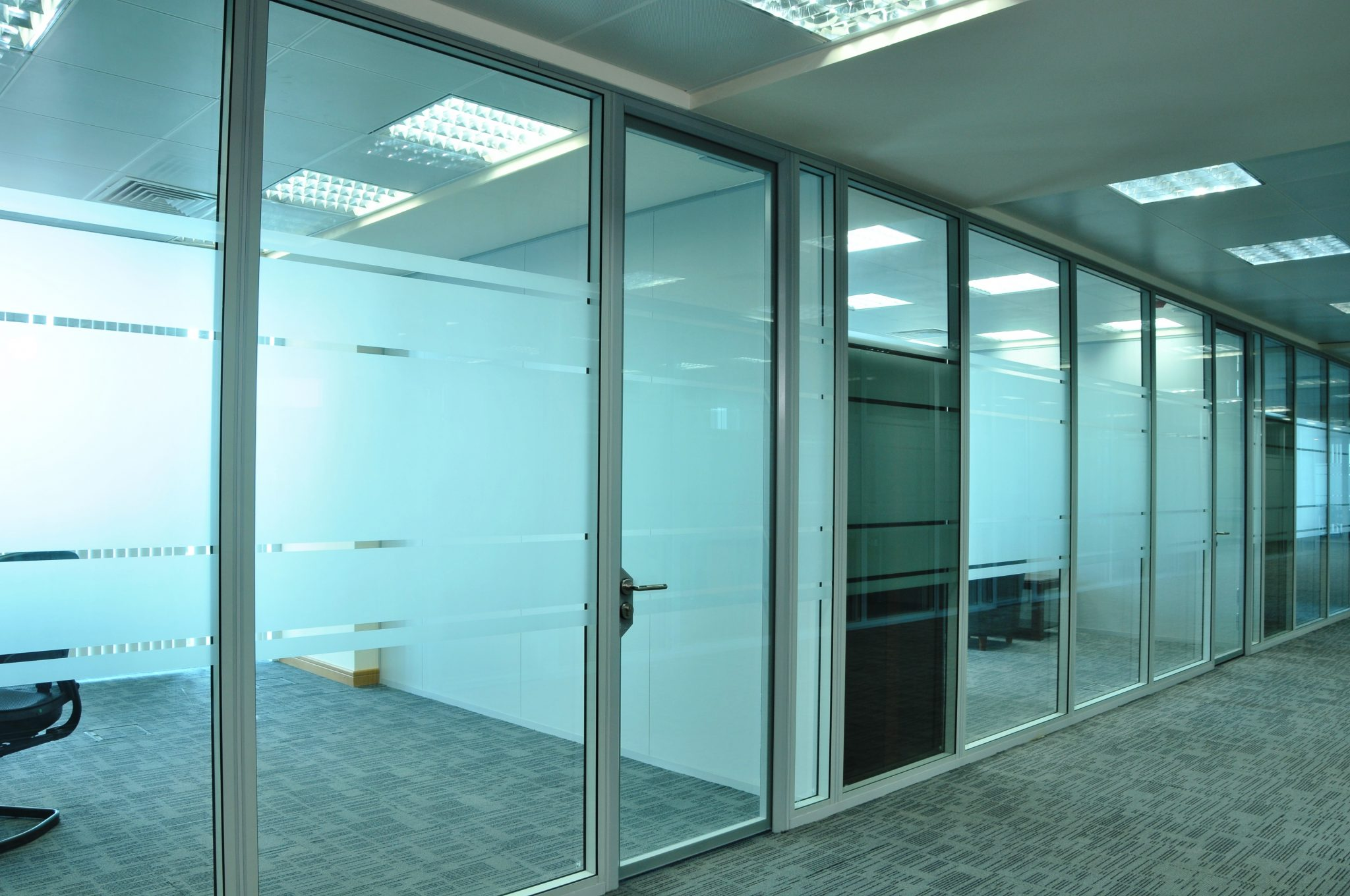 Glass Doors & Glass Doors - Romstor Office Partitioning Projects